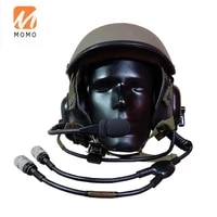 tactical helmet headset with m 138g microphone for tank crews protection