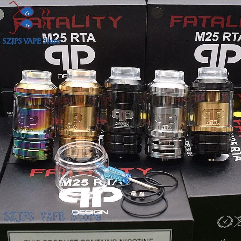 Qp design fatalidade m25 rta rebuildable atomizadores 316ss 510 threads 25mm diâmetro configuração de bobina múltipla vs kylin v2 zeus