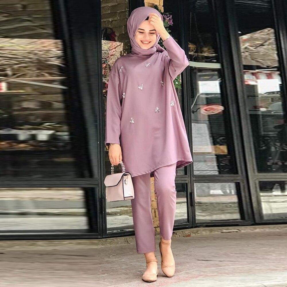 طقم عباية نسائي ، ملابس مسلمة على الطراز الأوروبي ، أزياء إسلامية ، دبي ، تركيا