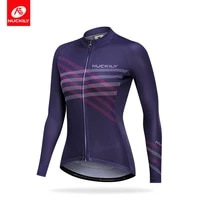 nuckily women cycling clothing mtb jersey lady top jerseys long sleeve stylish simplicity female womens cycling clothes jacket