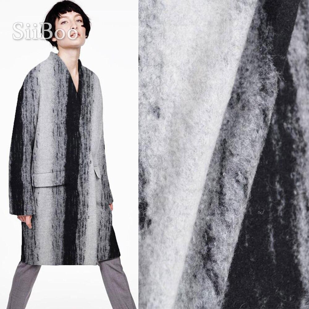 Tela de lana de viscosa de cachemir súper grueso de jacquard de Estilo vintage francés para DIY tela de abrigo de invierno tissu de laine cachemire SP5859