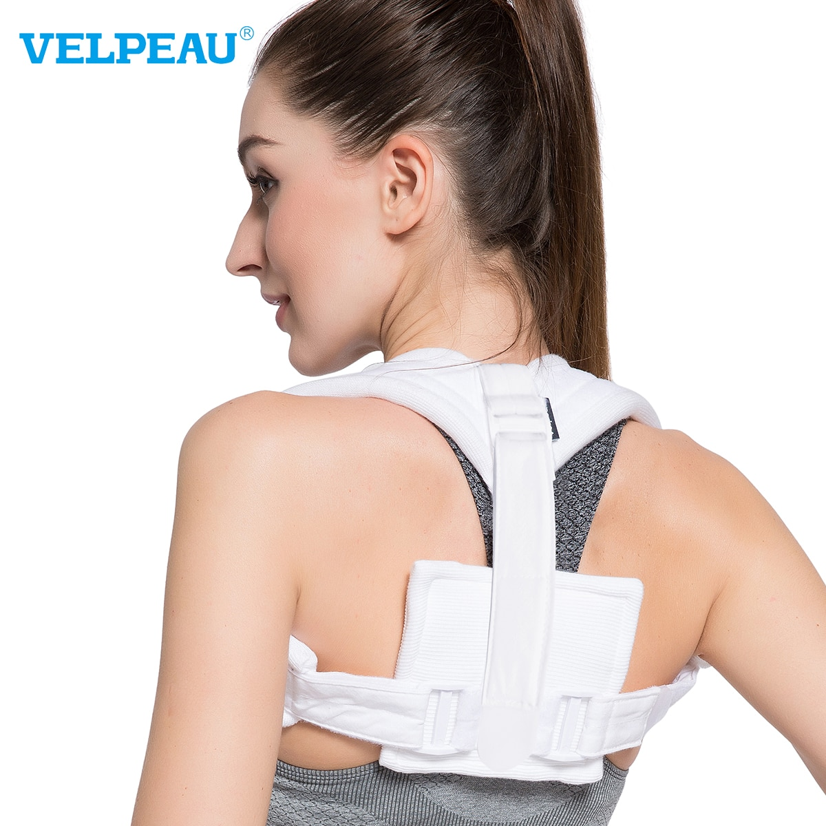 VELPEAU Posture Corrector Prevent Hunchback Change Your Image Corrective Braces with Wide and Soft S