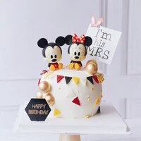 disney cartoon mickey minnie mouse baking cake decoration ornaments cake topper baby birthday party decoration supplies set