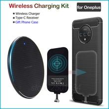 Chargeur sans fil pour Oneplus 8 5 5T 6 6T 7 7T Pro Qi chargeur sans fil + adaptateur récepteur de USB Type C
