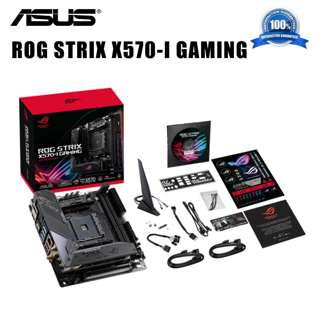 Socket AM4 Asus ROG STRIX X570-I GAMING Motherboard DDR4 64GB PCI-E 4.0 DDR4 AMD Ryzen PC X570 Gaming Placa-mãe AM4 Mini-ITX