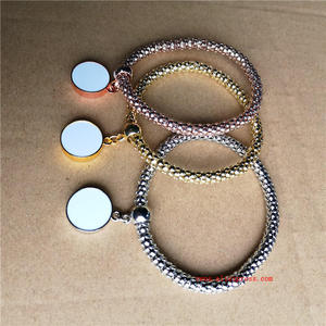 blank sublimation bracelets fashion women bracelet hot transfer printing jewelry consumables three colours  20pieces/lot