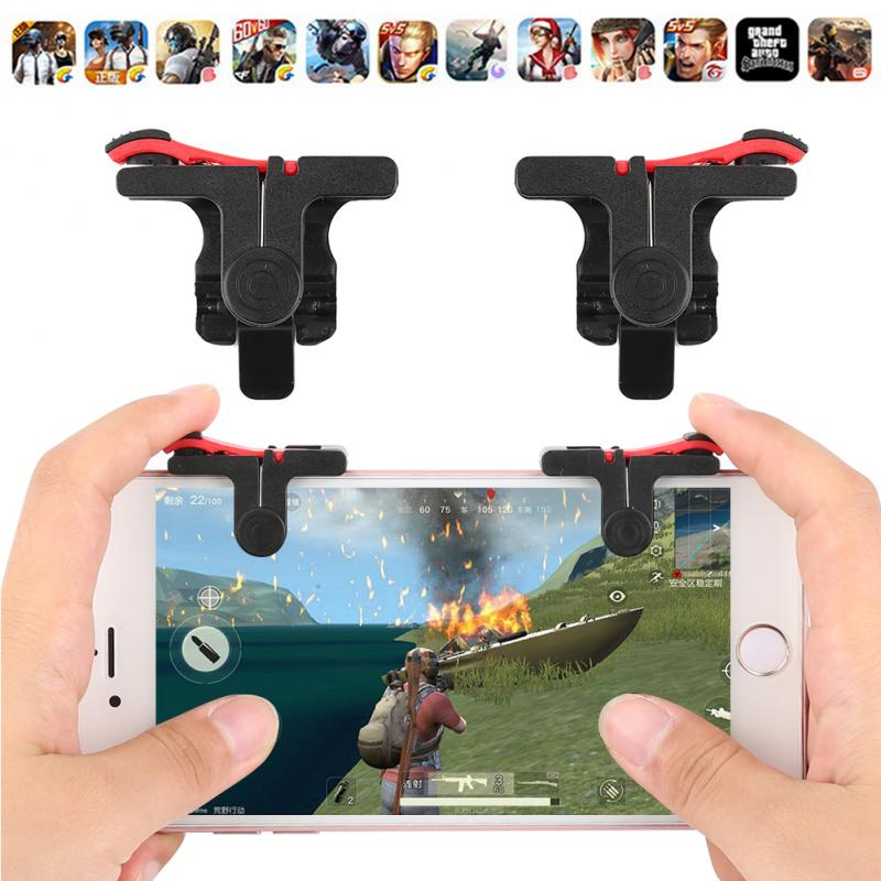 2 pz/lotto PUBG Moible Controller Gamepad Spedizione Fuoco L1 R1 Trigger PUGB Mobile Tastiere Grip L1R1 Joystick Per IPhone Android telefono