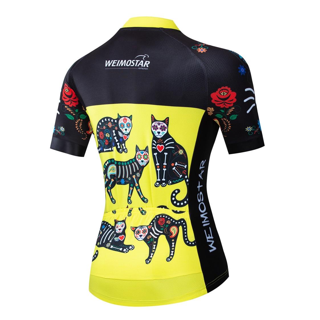 2020 camisa de ciclismo das mulheres da bicicleta jerseys feminino estrada mtb camisa ropa ciclismo maillot meninas corrida topos verão amarelo preto