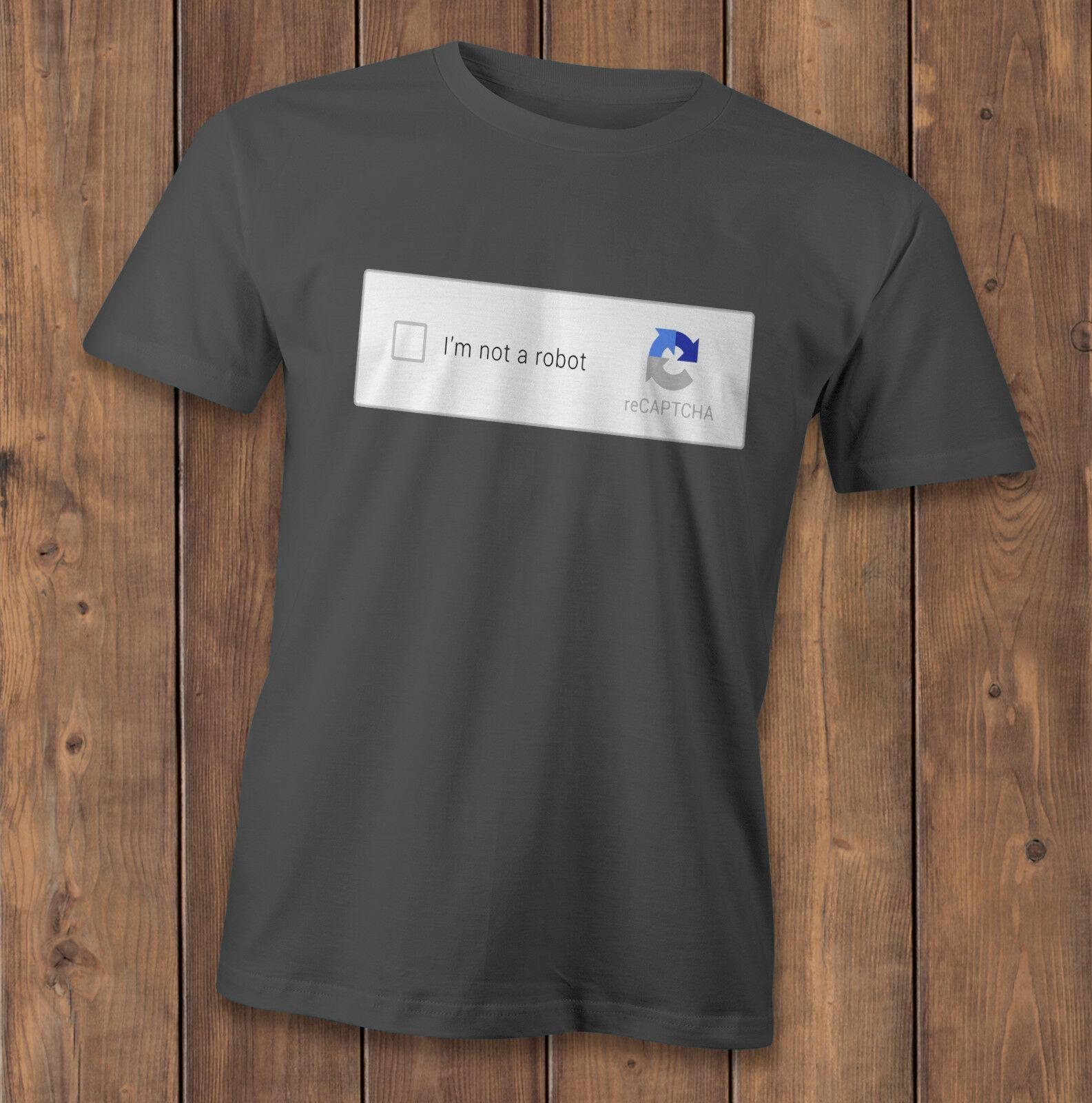 Yo no soy un robot camiseta captcha tee internet hackers camiseta geek programadores