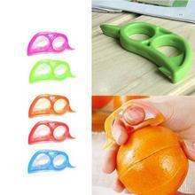 Cheap Lemon Slicer Orange Peelers Fruit Plastic Stripper Opener Citrus Fruit Tools Kitchen Gadget Random Color