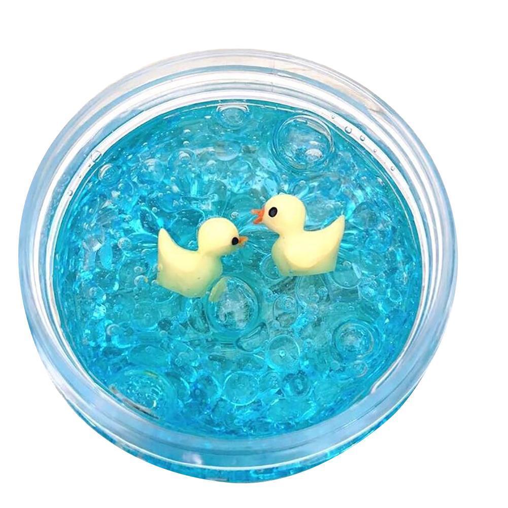60ml/100ml DIY Little Duck Crystal Mud Clay Clear Slime Stress Relief Kids Toy Children Gift Cotton Slime Antistress Plasticine недорого