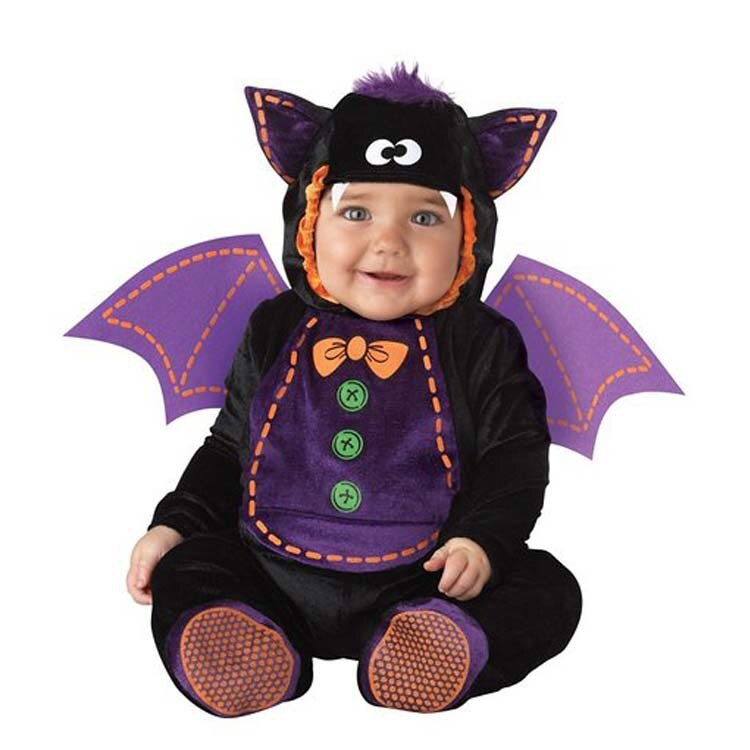 0-3Years Baby Cartoon Animals Bats Rompers Kids Birthday Anniversary Party Role Play Dress Up Outfit