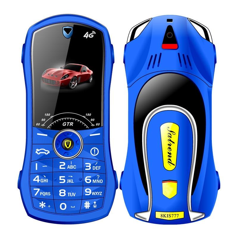 Bar Car Shaped Mini Mobile Phone Satrend V7 Dual SIM Card FM Radio Bluetooth LED 2800 mAh 1.8Inch Fe