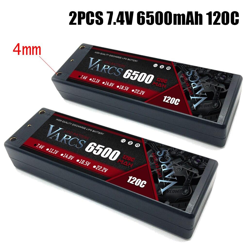 2PCS VARCS Battery 2S Lipo 7.4V 5400mah 6500mAh 7000mah 8400mah 140C 120C140C 130C HardCase for RC1/8 /10 Car Buggy Truck Boats enlarge