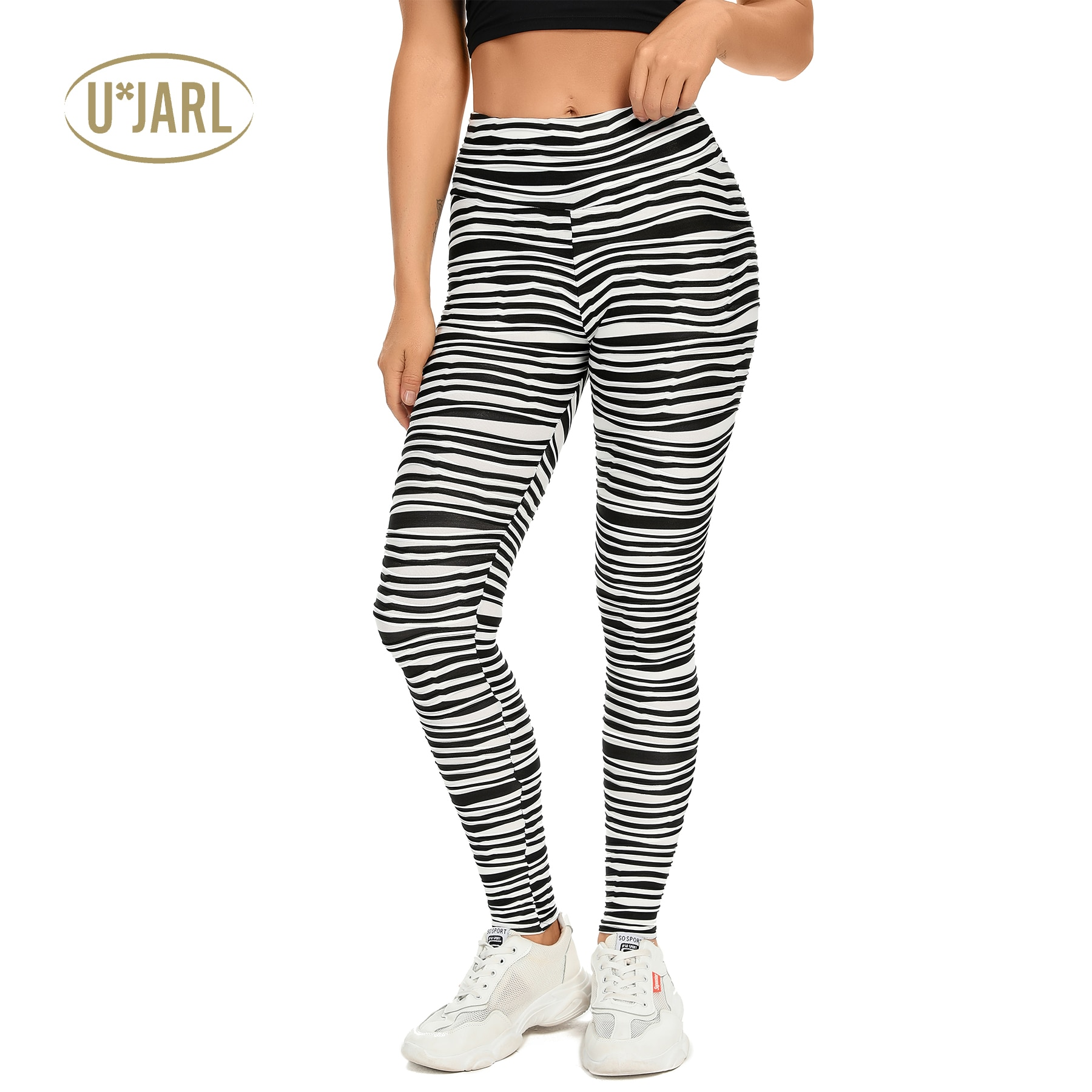 UxJARL Women's Sexy Yoga Pants Compression Leggings High Waist Butt Lifting Tights Fitness Sports We