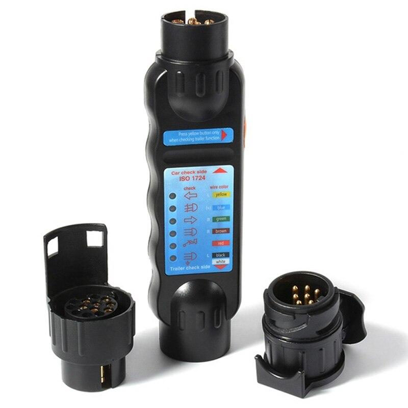 Alta qualidade plugue do reboque do caminhão do carro principalmente durável soquete tester circuito de fiação ferramenta de teste de luz 12v 7-pin