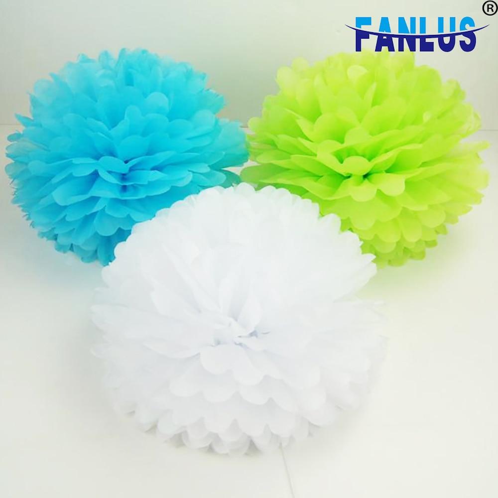 14 pulgadas 1 Uds papel flores artificiales fiesta de cumpleaños pompones decoraciones para el hogar Decoración para fiesta de boda artesanías pompón suministros