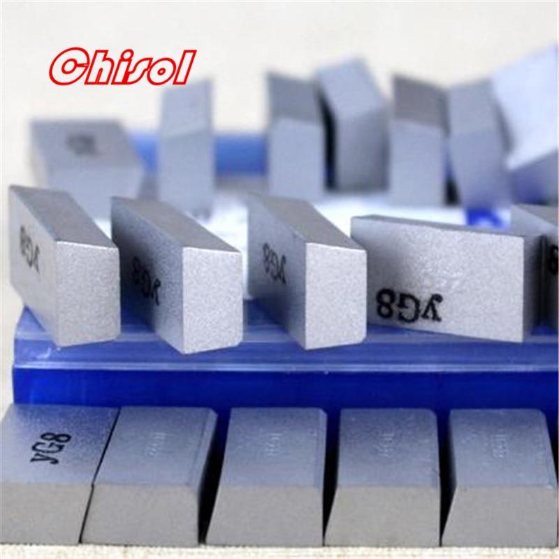 Envío Gratis ZCC. CT cnc insertos de soldadura de carburo 30 unids/lote D218B YW1 YW2 YG8 YG6 YT5 YT14 YT15 cuchilla de soldadura puntas herramientas de corte