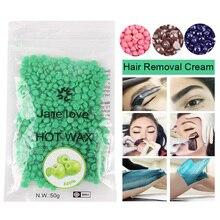 25/50g Depilatory Wax Beans No Strip Depilatory Hot Film Hard Wax Pellet Waxing Bikini Body Face Hair Removal Bean for Women Men