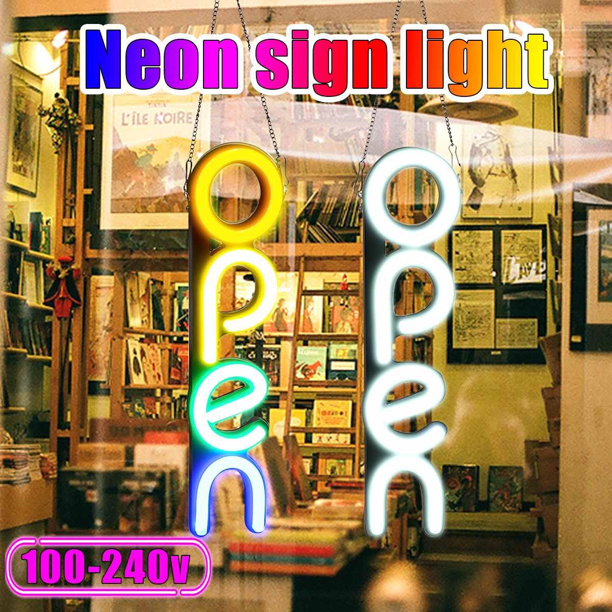 مصباح حائط نيون LED مفتوح 100-240 فولت ، مصباح حائط ، عمل فني مرئي ، مصباح بار للمطعم ، ديكور غرفة المنزل ، المتجر ، الإضاءة التجارية