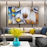 100  peint a la main abstraite plume Art peinture a lhuile sur toile mur Art sans cadre image decoration pour salon maison deco cadeau
