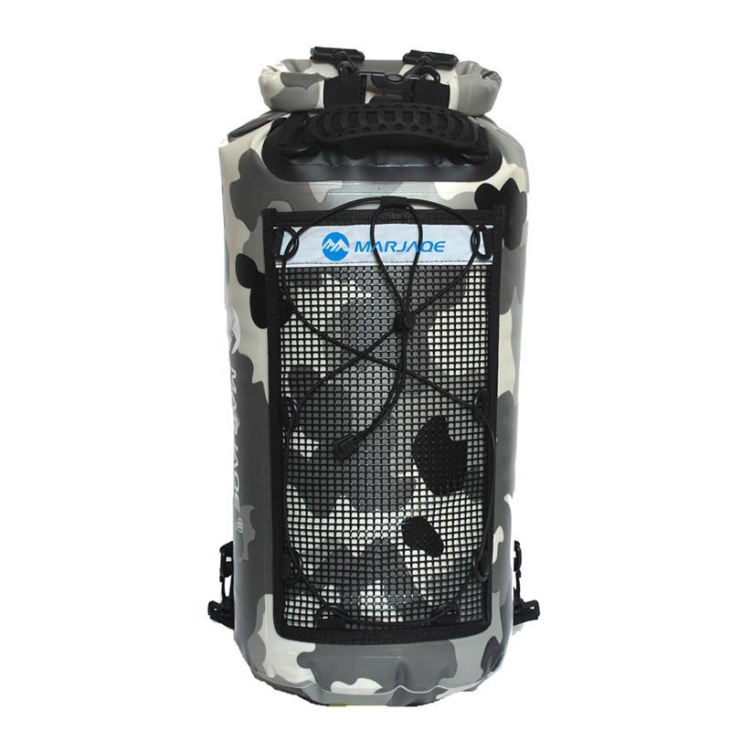 25L doble correas Ocean Pack PVC río Trekking Drifting Seal Rafting camuflaje mochila bolsa impermeable para aventura al aire libre