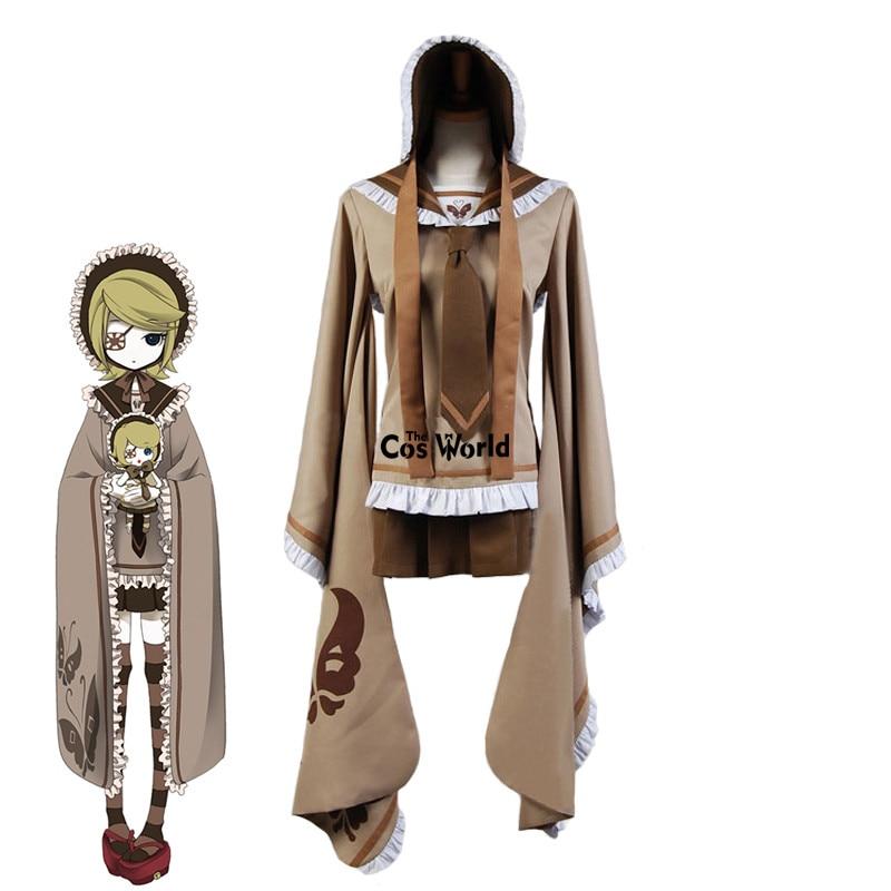 Vocaloid Hatsune Miku Senbonzakura Kagamine Rin Tops Dress  Uniform Outfit Anime Cosplay Costumes