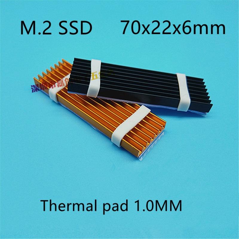 M.2 SSD жесткий диск теплоотвод с тепловой прокладкой 70x22x6 мм кабель для жесткого диска ssd Алюминиевый Ремень nvme 512