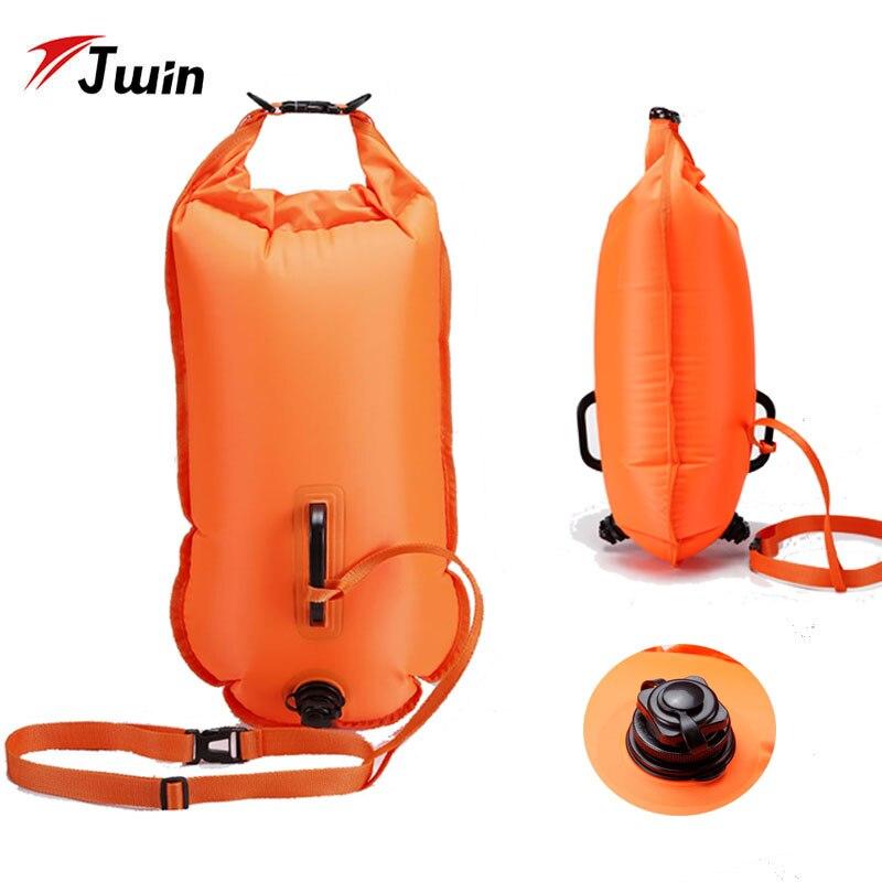 Надувная спасательная сумка для плавания 28л, спасательный мешок для плавания, плавающая сухая сумка для плавания, дайвинга, подушка безопас...