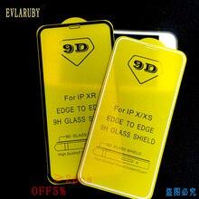 9D vetro temperato per iphone XR Xs 11 Pro MAX di vetro per per iphone 7 6X6 s 8 più vetro di protezione su per iphone x 8 7 6 6s