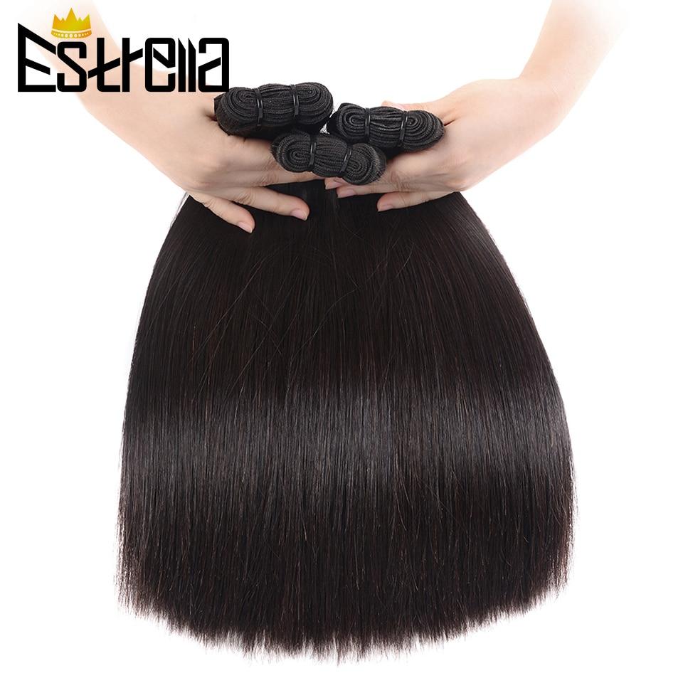 Bone Straight Human Hair Bundles Brazilian Weave Natural Virgin Double Drawn 100% ESTRELLA