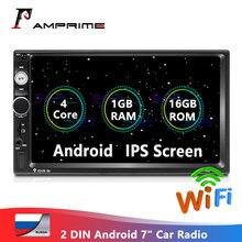 "AMPrime Android 2 Din Autoradio Autoradio 1 + 16GB 7 ""Auto Multimedia Audio 2din MP5 Player Stereo GPS/WiFi/Bluetooth/FM Stereo"