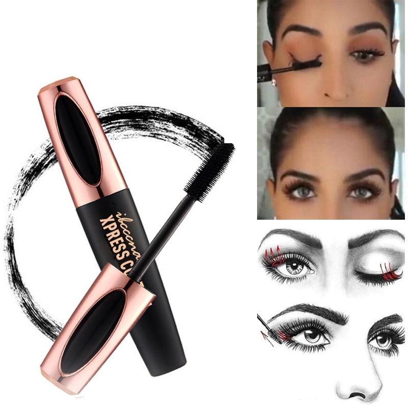 4D maquillaje profesional Color máscara impermeable, de secado rápido pestañas rizador alargamiento maquillaje de pestañas herramienta de belleza nuevo