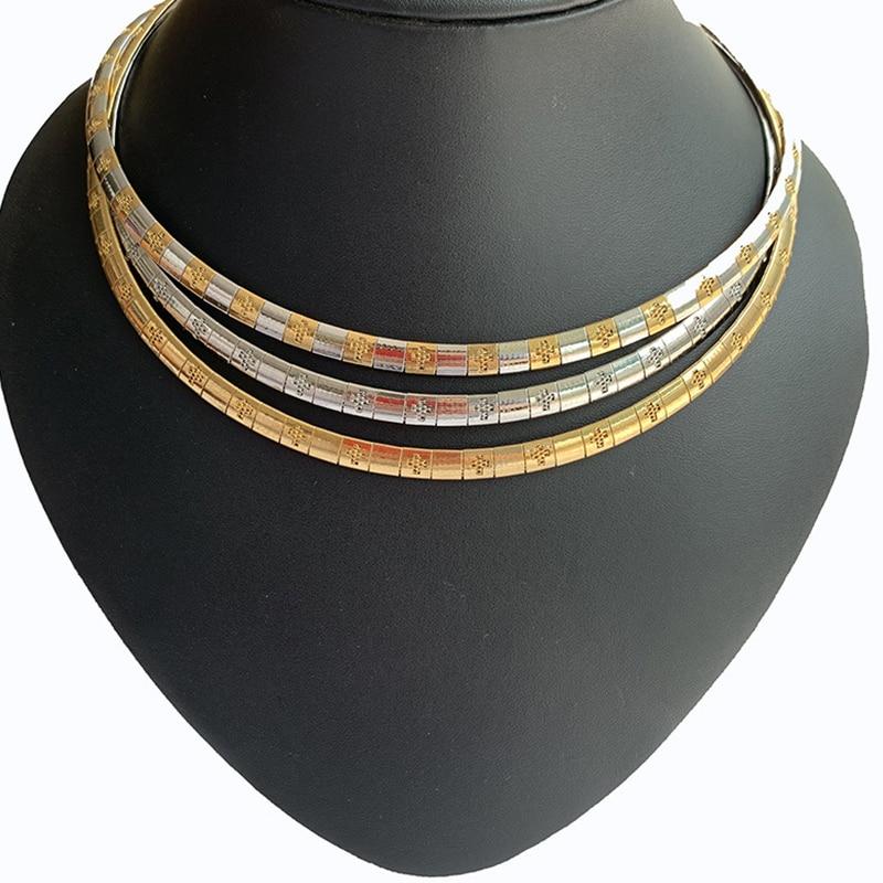 Gargantilla dorada para mujer, regalos de acero inoxidable para niña, accesorios femeninos, gargantillas de color acero, collar de moda simple, boho en el cuello