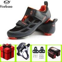 Tiebao Men Road Cycling Shoes UTriathlon Professional Breathable Bike Bicycle Self Lock Shoes Racing Athletic Sneakers
