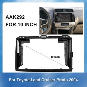 10 Inch Car Auto Radio Multimedia fascia For Toyota overbearing 2004 Double Din Fascia Audio Fitting Adaptor Trim Dash Mount