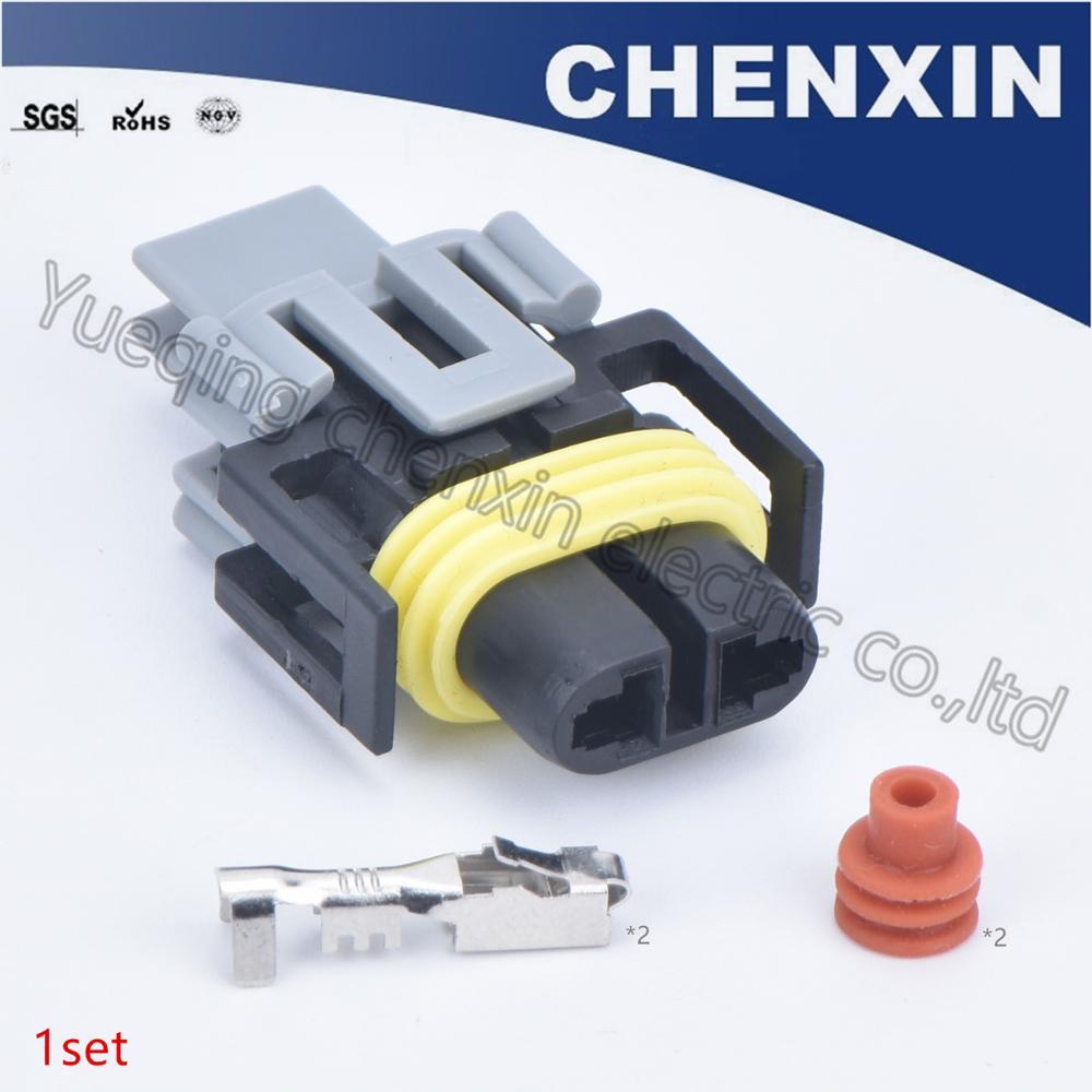 Schwarz 2 pin auto motorrad wasserdichte anschlüsse (2,8) weibliche wiringcase anschluss VERSTECKTE scheinwerfer birne buchse 12124819