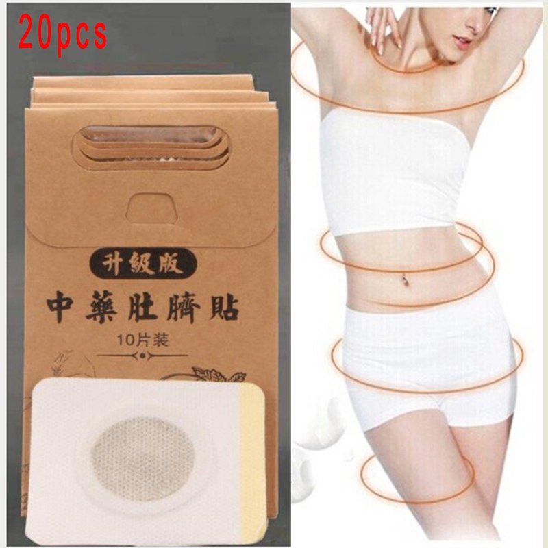 20Pcs Slimming Patch Fat Burning Patches Toxin Eliminating Sleeping Slim Patches Weight Loss Stickers Hot Body Shaping Sticker