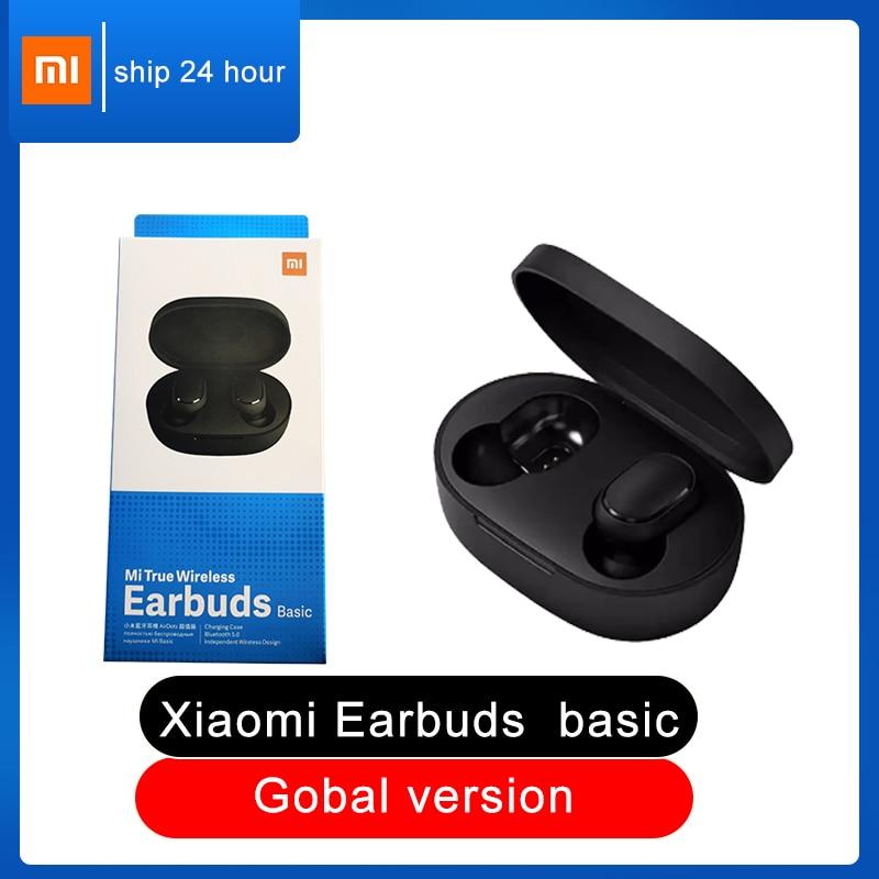 Xiaomi Redmi Airdots Earbuds basic Global Version 5.0 TWS Mi True Wireless Bluetooth Earphone AI Control Gaming sports Headset