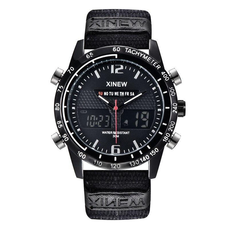 Reloj cronógrafo de negocios para hombre, pulsera de cuero de moda, militar,...