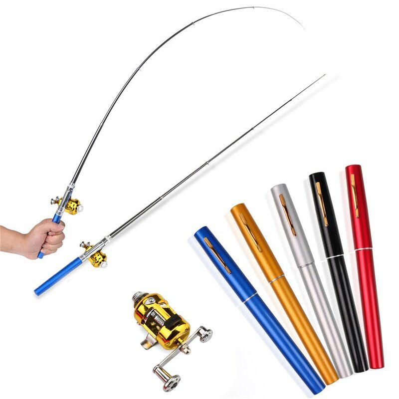 2018 Mini Portable Pocket Fish Pen Shape Aluminum Alloy Fishing Rod Pole Reel  Safety & Survival Z919