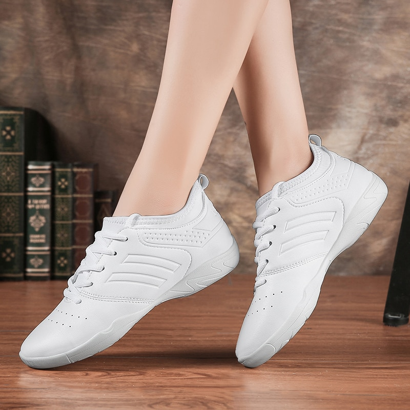 New Microfiber Leather Aerobics Shoes Dance Shoes Women's Sports Casual Shoes Flats Footwear Size 35