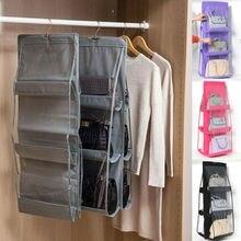 6 poche pliable sac suspendu 3 couches pliant étagère sac sac à main sac à main organisateur porte divers poche cintre rangement placard cintre