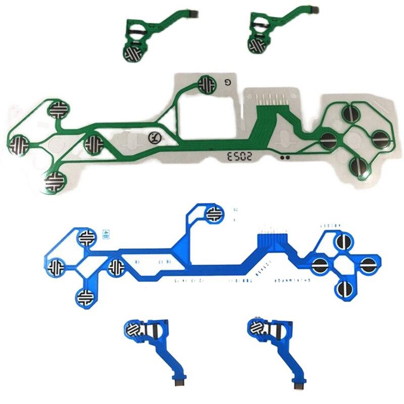 الأزرق/الأخضر غشاء موصل ل PS5 تحكم LR الصليب مفتاح وظيفة زر كابل الكربون فليكس فيلم ل PS5 جويستيك فيلم