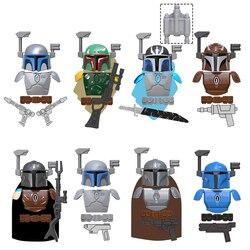 21 pçs estrela warss mandalorian batalha armadura boba jango vizsla darksaber vader blocos de construção tijolos brinquedos para crianças kt1041