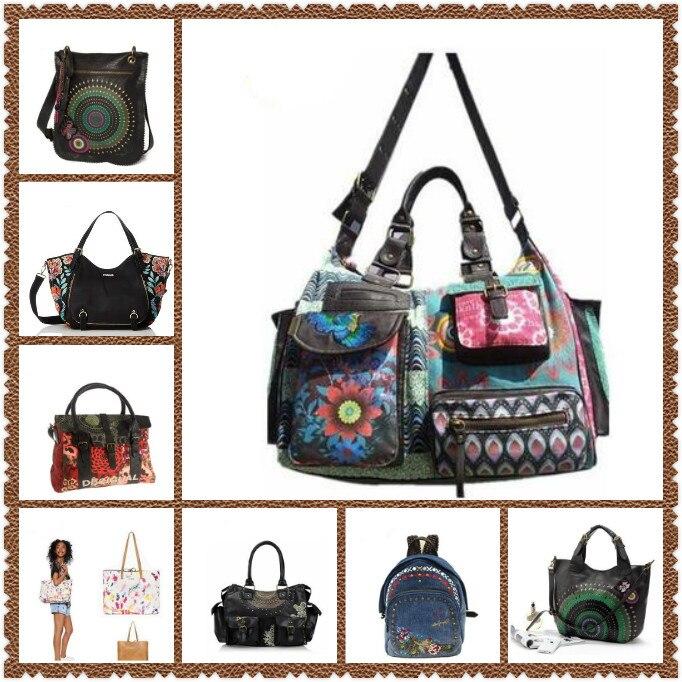 حقيبة يد نسائية مطرزة ، حقيبة كتف كبيرة الحجم ، عصرية ، مطبوعة ، جودة عالية