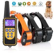 800 Meters Electric Remote Control Dog Collar IP6X Waterproof Dog Training Collar 1 Drive 2 Electric Dog Collar Dog Shock Collar