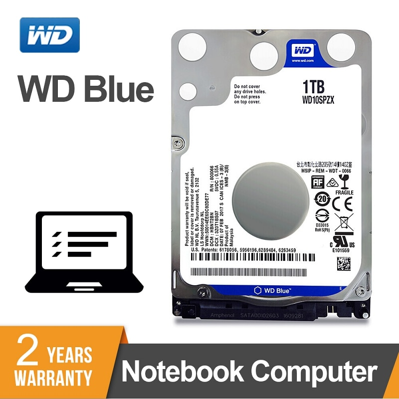WD الأزرق 1 تيرا بايت 2.5 بوصة SATA 3 كمبيوتر محمول داخلي الهارد دسك HDD دفتر 5400rpm