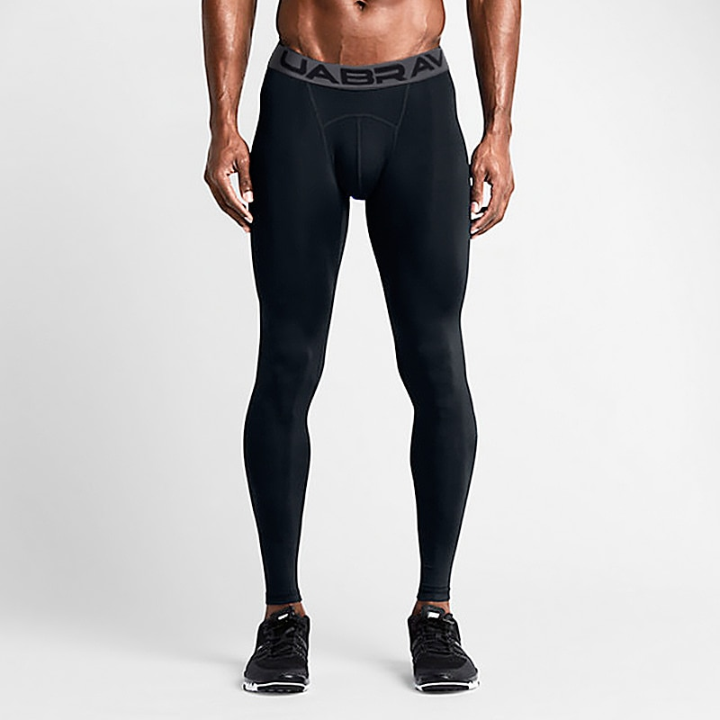 Men's Sports Pants Elastic Running Trousers Compression Gym Fitness Tights Exercise Training Legging