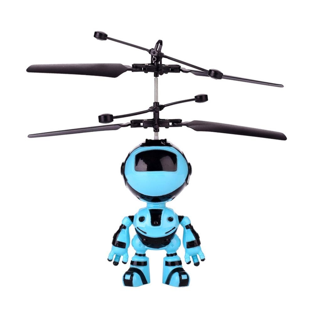 RC Flying Robot Aircraft Hand Inductive Infrared Induction Kids Light Super Wings Mini Planes Toys D
